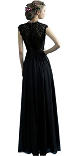 Ikerenwedding - Vestido - trapecio - para mujer negro