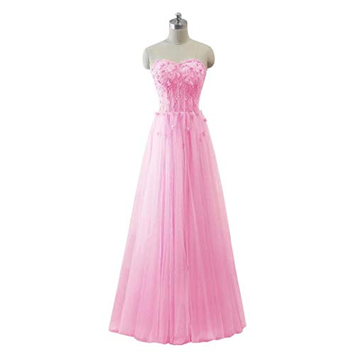 King's Tulle Formal Long Maxi 48 Perlen Frauen Love Ballkleider Abendkleid Schatz HF4PHwq
