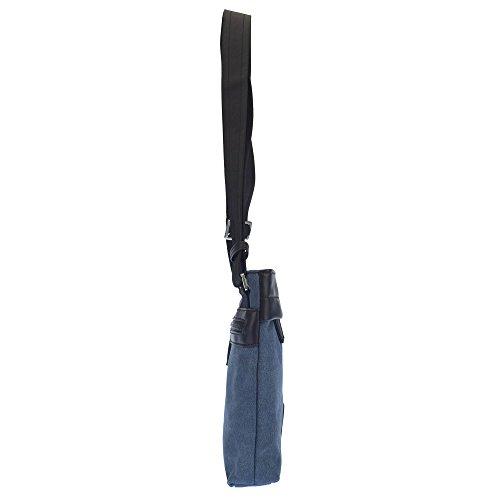 Bolsa trasero hombro POLO ASSN U de cm Negro bolsillo y S 20x4x22 con delantero bolsillo qPwtUAH