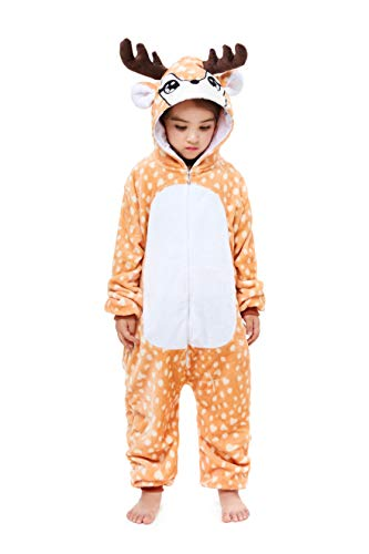 Yutown New Kids Unicorn Costume Animal Onesie Pajamas Halloween Dress Up Gift Sika Deer 130]()