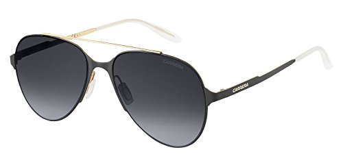 Carrera Men's Ca113s Aviator Sunglasses, Gold Black Matte/Gray Gradient, 57 - Black Sunglasses Gold And Carrera