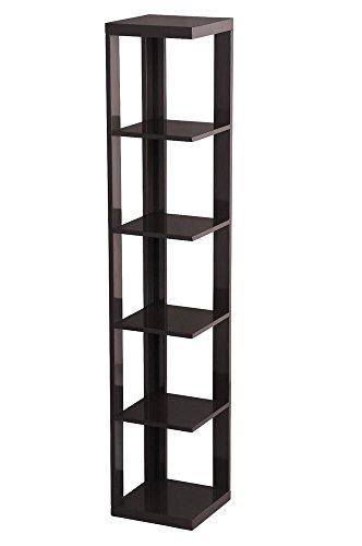 GJH One Bookshelf Bookcase Corner Shelf Ladder Storage Leaning Wall 5 Tier