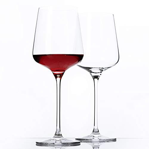 Crystal Wine Glasses, Universal Wine Glass 24 OZ, Wine Glasses Set,Bordeaux Glasses, Premium Crystal Glass for White and Red Wine, Great Gift for Any Occasion (2-pieces)