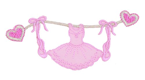 manufacturer-condition-ballet-dress-on-clothesline-iron-on-patch-for-kids-baby-high-quality