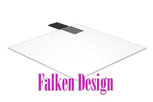 Falken Design falkenacrylic_clear_472_6x6 Acrylic Sheet, Plastic/Plexiglas/Lucite, 6'' x 6-1/2'', Clear by Falken Design Corporation