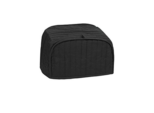 Ritz Polyester/Cotton Quilted Two Slice Toaster Appliance Cover, Dust and Fingerprint Protection, Machine Washable, Black - Polyester Furniture Cover