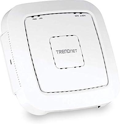 TRENDnet TEW-821DAP Gigabit Punto de Acceso PoE Wireless de Banda Dual AC1200 con Controlador de Software concurrente Cliente Ap