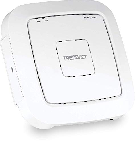 (TRENDnet AC1200 Dual Band PoE Access Point, 867 Mbps WiFi AC+ 300 Mbps WiFi N Bands, Client, WDS, AP, WDS Bridge, WDS Station, Repeater Modes, Easy Install,)
