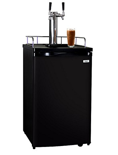 Kegco ICK19B-2 Dual Faucet Javarator Cold-Brew Coffee Dispenser - Sombre