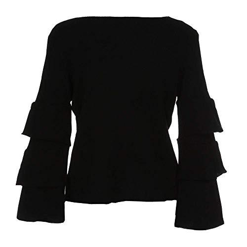 Manteau Taille Eu Tops À Détachés coloré Manches Tricots Outwear Longues 40 Manteaux Casual Pull Tricoté Blanc Parka l Dames Veste cn Femmes Jumper Pulls Lâche Noir D'hiver 1xABptCqw