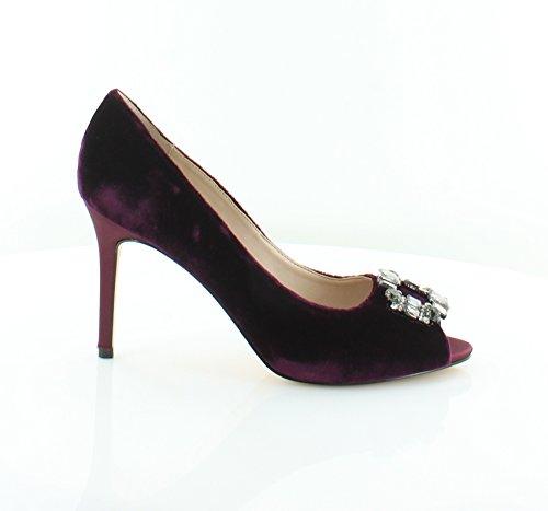 Nina Peep Toe Heels (Nina Women's Reign Peep-Toe Pump,Merlot Romance Velvet,US 9 M)