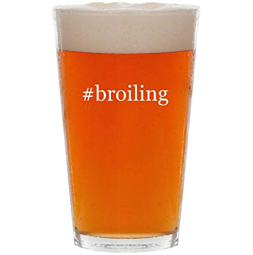 #broiling - 16oz Hashtag All Purpose Pint Beer Glass - 2 King Burner Griddle