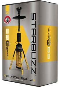 Starbuzz Carabine 2.0 - Pipa de agua, 1 Count (Pack of 1), Negro y dorado