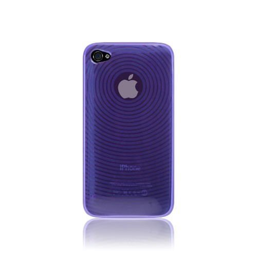 Katinkas KATIP41020 Soft Cover für Apple iPhone 4 Circle lila