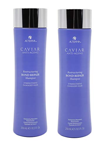 (2 Pack) 8.5 Fl Oz Alterna Caviar Anti-Aging Restructuring Bond Repair Shampoo (Best High End Shampoo And Conditioner For Damaged Hair)