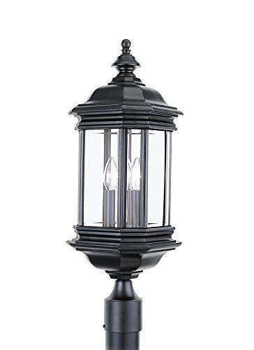 Sea Gull 8238EN-12 Hill Gate Outdoor Post, 3-Light 10.5 Total Watts, - Gull Hill Lighting Gate Sea