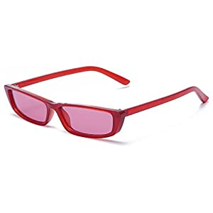 INS Fashion Trend Mini Vintage Rectangle Sunglasses Women Men Small Frame Sun Glasses Square Eyewear Black Red White