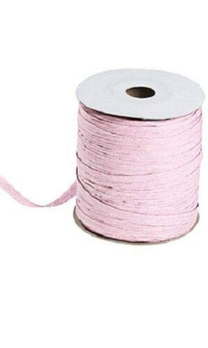 Light Pink Matte Raffia Ribbon Gift Wrap Wedding 1/2'' Wide 500 Yards Bow by retail-warehouse