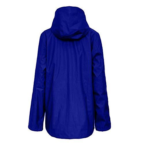 À Femmes En Manches Fuxitoggo Coupe Imperméable Veste Hiver Vrac Ample Dames Coupe Manteau Capuche Pour Décontractée Longues Pardessus vent q8E8wX