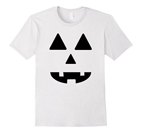 [Men's Jack O' Lantern Pumpkin Face Halloween Costume Boys Girls  Small White] (Jack White Halloween Costume)
