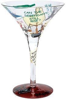 Lolita Lawyer tini Love My Martini Glass by Unknown