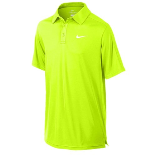 Nike Boys Court Polo Shirt Volt X-Large Yellow