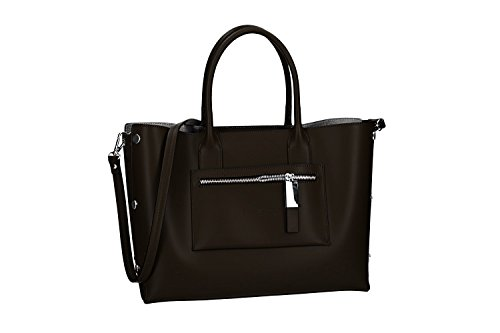 VN2661 Made CARDIN PIERRE leather Italy hand woman in strap Bag moro shoulder cW8UFnpfP
