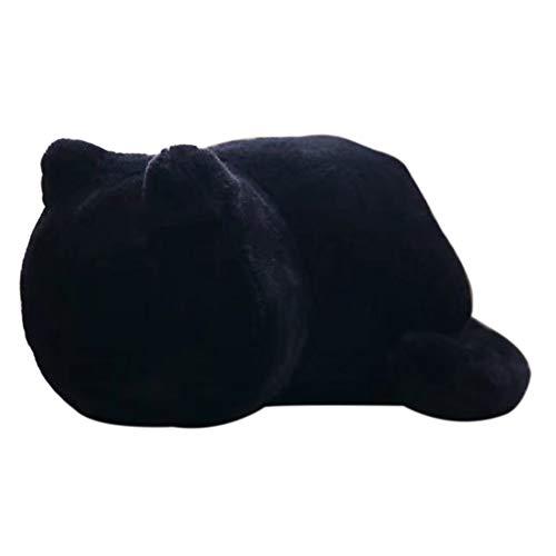 Sunnylela Cute Cartoon Plush Dolls-Portable Black Cat Pillow Cute Fat Back Cat Doll Plush - Fat Cute