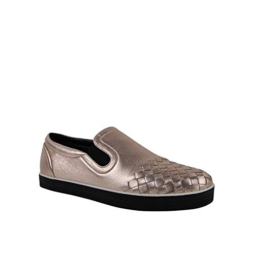 Bottega Veneta Women Rose Gold Intrecciato Leather Slip On Shoe 428871 5710 (IT 39 / US 9)