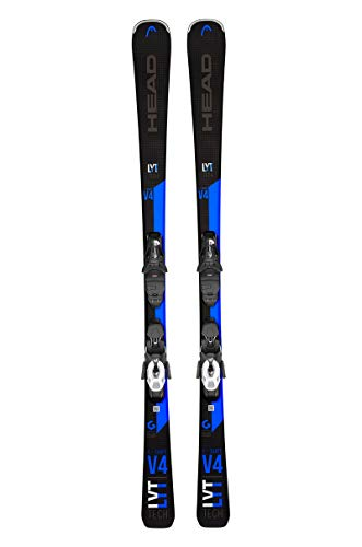 HEAD Unisex V-Shape V4 LYT Powerrail Graphene Black/Blue Piste Skis