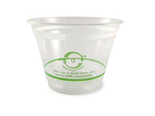 - World Centric Ingeo Compostable Clear Squat Cold Cup, 9 Ounce - 1000 per case.