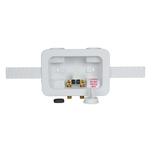 """Oatey 38204 Assembled Washing Machine Outlet Box CPVC Single Lever, 2""""x4"""","""