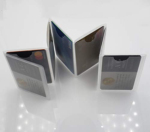 Set of 2 Clear Premium Quality Wallet Insert from AG Wallets (Accordion)