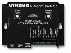 [해외]바이킹 전자 - 디지털 질량 고지 아나운서/Viking Electronics-Digital Mass Notification Announcer