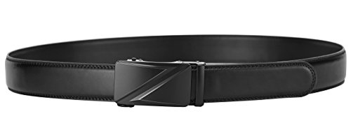 35mm YoMeiJun L Leather Buckle Automatic Belt Black Men's Chrom Z w0Rvwz1q