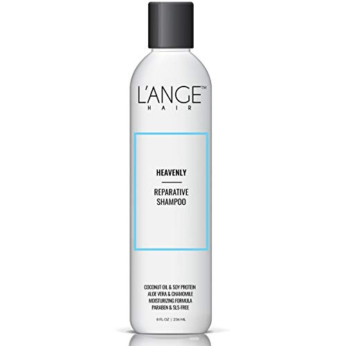 Lange Hair HEAVENLY Reparative Shampoo - Paraben Free & SLS Free Repairing and Moisturizing Shampoo for Women & Men, Natural Hydrating Shampoo with Aloe Vera, Chamomile, Coconut Oil, 8 oz, MSRP $20