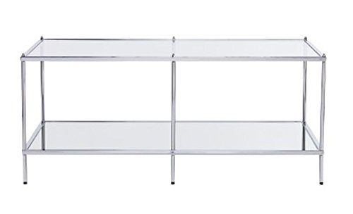Southern Enterprises Knox Glam Mirrored Cocktail Table - Chrome