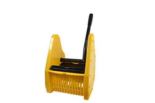 Janico 1013 Down Press Wringer for Janico 35 Qt Mop Bucket, Yellow (35 Quart Down Press)