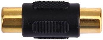 耐久性と軽量の 高品質。 ゴールドRCAメスコネクタにゴールドRCAメス(ブラック)、小型、軽量で持ち運びが簡単