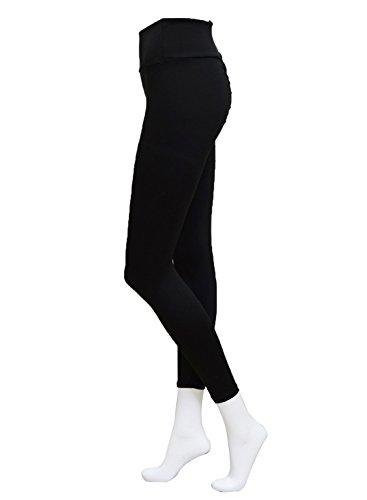Ranphee Black Yoga Pants-Women Ripped Elastic Slim Cutout Leggings Workout Running Capris