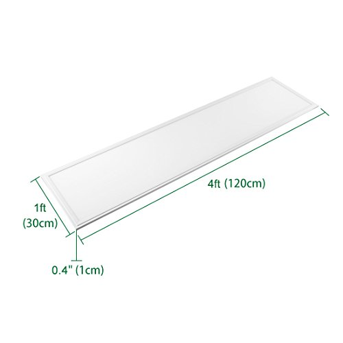 uxcell LED Panel 1x4 ft Dimmable Edge-Lit Flat 40w Square Ceiling Panel Down Lights,5000k -2 Packs, UL Listed, DLC-Qualified by uxcell (Image #3)