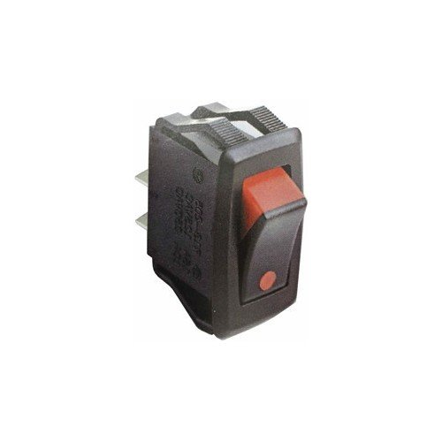Quick Connect Spade Terminals Dual Color On-Off Morris 70191 Rocker Switch Black//Red Morris Products SPST
