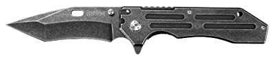 Kershaw Lifter (1302BW); Tactical Tanto Pocket Knife with 3.5 Inch 4Cr14 Steel Blackwashed Blade with Stainless Steel Blackwash Handle, SpeedSafe Assisted Opening and Deep-Carry Pocketclip; 3.2 OZ. from Kershaw Sporting Goods :: Combat Knife :: Tactical K