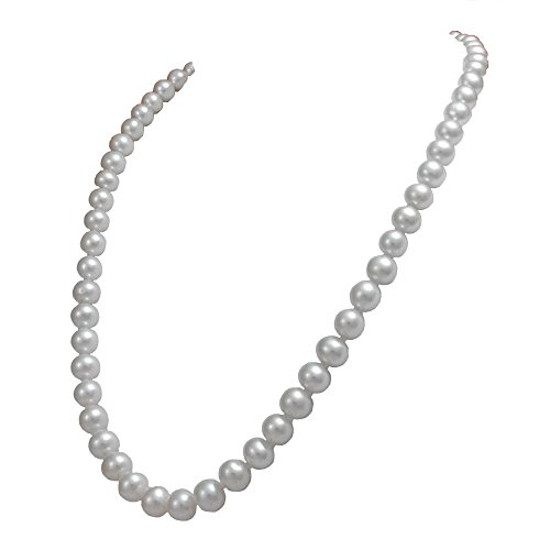 7mm Aa Japanese Akoya Pearl - Orien Jewelry White Freshwater Cultured Pearl Necklaces 7mm AA Cultured Pearl Pendant Necklace for Women