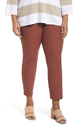 Eileen Fisher Plus Russet Washable Stretch Crepe Slim Ankle Pant Size 1X MSRP$178
