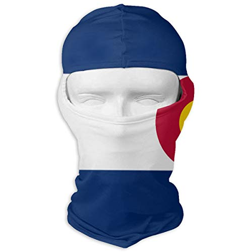 MASDUIH Neck Scarf Sunscreen Hats Ski Mask Colorado State Flag Sun UV Protection Dust Protection Wind-Resistant Face Mask for Running Cycling Fishing -