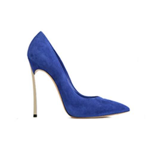 Metal Punta Fuego Del De Zapatos Plataforma Zapatos LYY Noche Boda De Individuales La A Banquete De Vestir Prueba De De Mujeres Novia Blue Stilettos Cerrada YY wUx0xqXYP