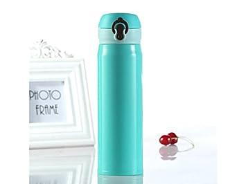 HOUHOUNNPO Creativo Taza de Agua aislada de la Botella de Agua del Acero Inoxidable 500ml con
