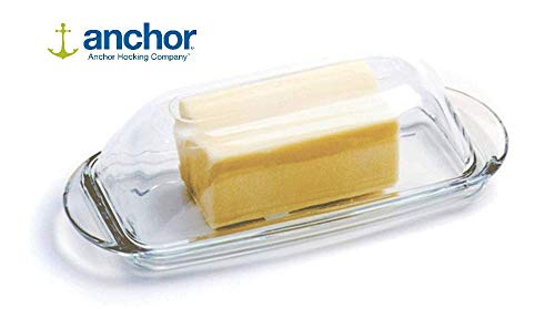 Anchor Hocking Glass Butter Dish with Cover