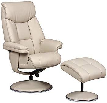 GFA Biarritz Plush Swivel Recliner Chair & Matching